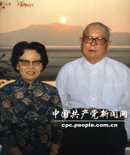 李先念与夫人林佳楣(1985年)图片